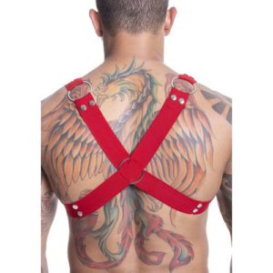 Harness Arreio Masculino Vermelho