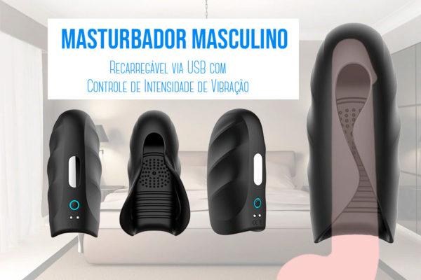 Masturbador Importado Recarregável USB
